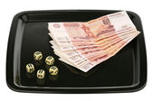 Dice and money — Stock Photo