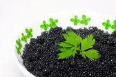 Black caviar. — Stock Photo