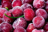 Frozen sweet cherry. — Stock Photo