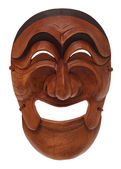 Korean wooden mask — Stock Photo