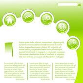 Website business template in green — Stock Vector