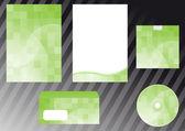 Green business design elements — Stock Vector