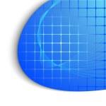 abstracte blauwe technologie achtergrond — Stockvector