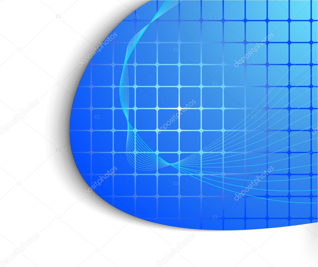 Abstract blue technology background stock illustration