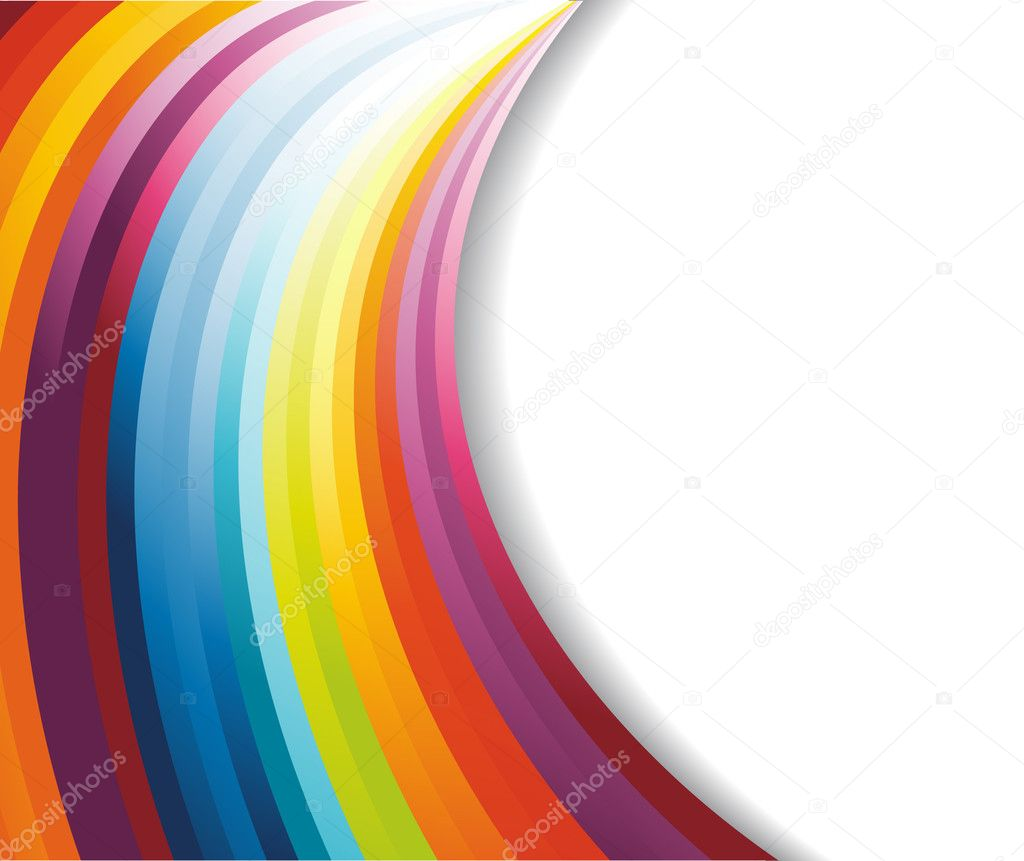 Rainbow horizontal banner. Vector illustration — Stock Vector #2890792
