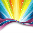 Colorful rainbow banner template — Stock Vector