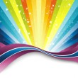 Colorful rainbow banner template — Stock Vector #2962230