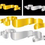Golden decorative ribbon — Stock Vector