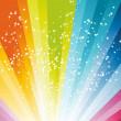 Abstract rainbow birthday banner — Stock Vector