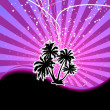 Discotheque night palm banner — Stock Vector