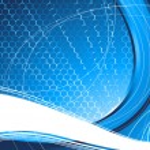 blauwe technologie abstracte achtergrond — Stockvector
