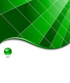 Green abstract high-tech — Stock Vector