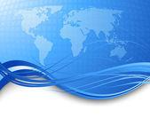 Concepto de negocio en todo el mundo — Vector de stock