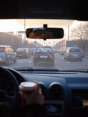 朝の交通渋滞. — ストック写真