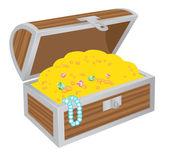 Chest of treasures — Stock Vector