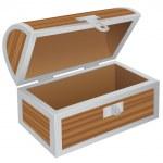 Empty chest — Stock Vector