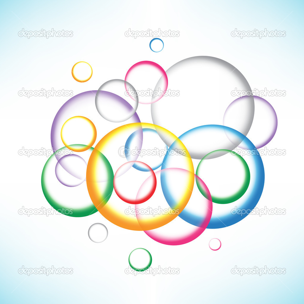 The beautiful eps10 color circles background  Imagen vectorial #3486467