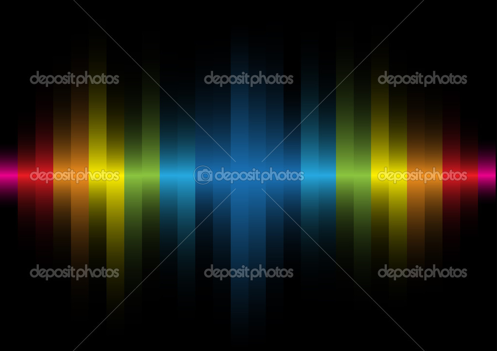 Iridescent light on a black background — Stock Vector #3489432