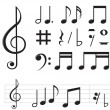 Music notes — Vettoriali Stock