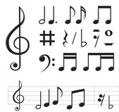 Music notes — Stock Vector