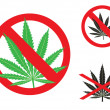 Royalty-Free Stock Vector Image: The hemp is forbidden