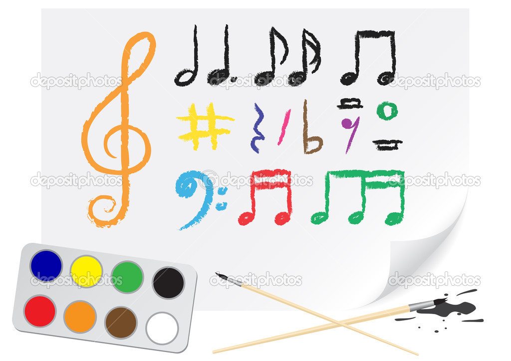 Програмку для рисования нот