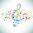 Music notes background — Stock Vector #3631566
