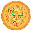 Stock Vector: Our food are music3