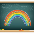 Drawing rainbow by a chalk — Stock Vector #3774974