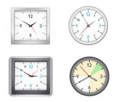 Office clocks — Stock Vector
