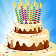 Stock Photo: Birthday cake and candle
