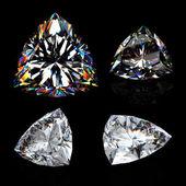 3d brilliant cut diamond — Stock Photo