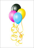 Balloons of CMYK colors — Stock Photo