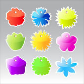 Colorful price labels. Shape of flowers — Stock Photo