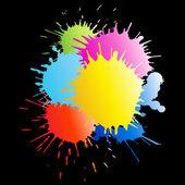 Kleurrijke verf spatten — Stockfoto