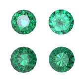 Round emerald — Stock Photo