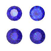 Saphir bleu rond — Photo