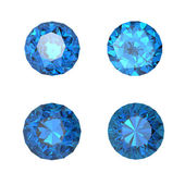 Round swiss blue topaz — Stock Photo
