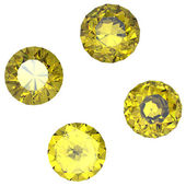 Saphir jaune ronde — Photo