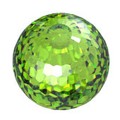 Round peridot — Stock Photo
