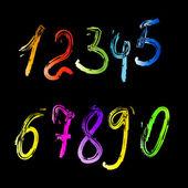 Vector colored numerals — Stock Vector