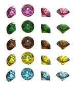 Collections of gems — Stock Photo
