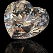 Brilliant shape of heart. Cognac diamond — Stock Photo
