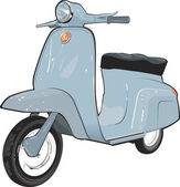 Moped Scooter — Stock Vector