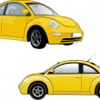 Yellow car - Stock Vector