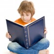 Boy with book — Stock Photo