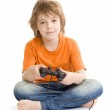 Little boy with console controller — Stock Photo