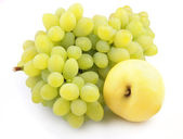 Apple and grapes — Stock Photo