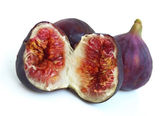 Three ripe figs — Stock Photo