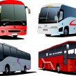 Four city buses. - Stock Vector